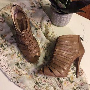 "Boutique 9 ""Ultra"" Leather Peep Toe Sandal"